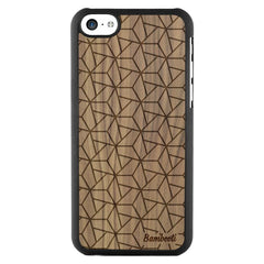 iPhone 5c Wood Slim Case Walnut Triopus