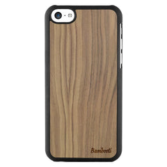 iPhone 5c Wood Slim Case Walnut Regular