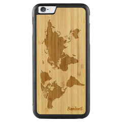 iPhone 6(s) Plus Wood Protective Case Bamboo World Map