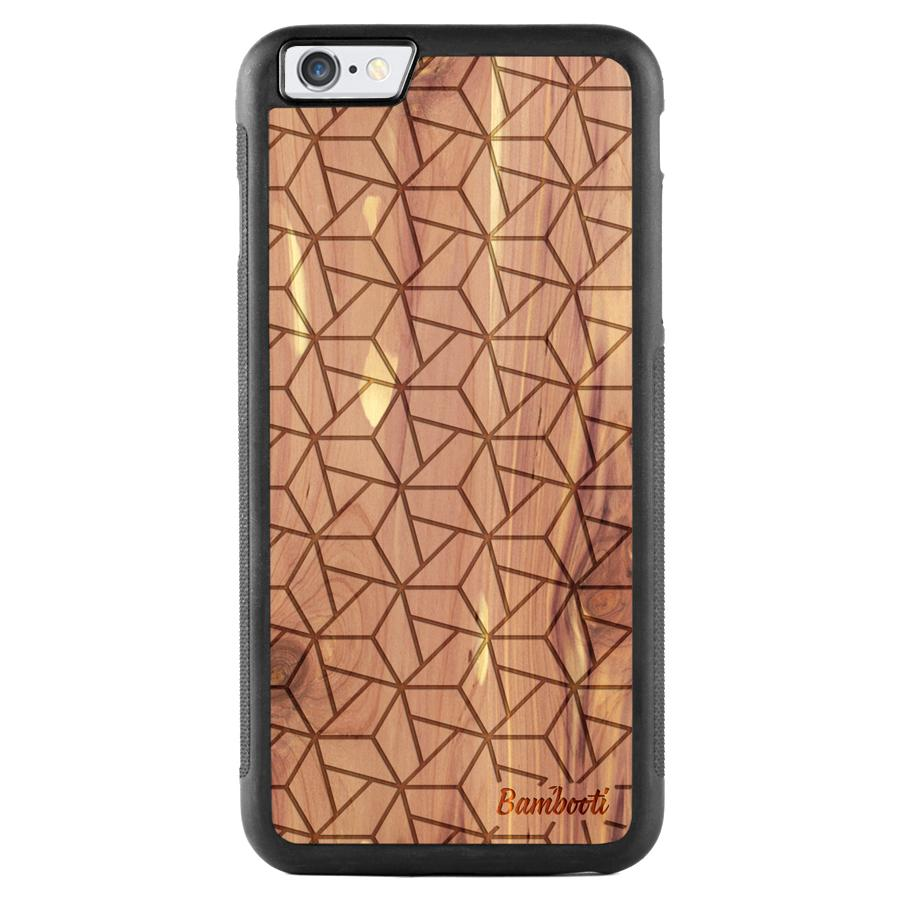 iPhone 6(s) Plus Wood Protective Case Cedar Triopus