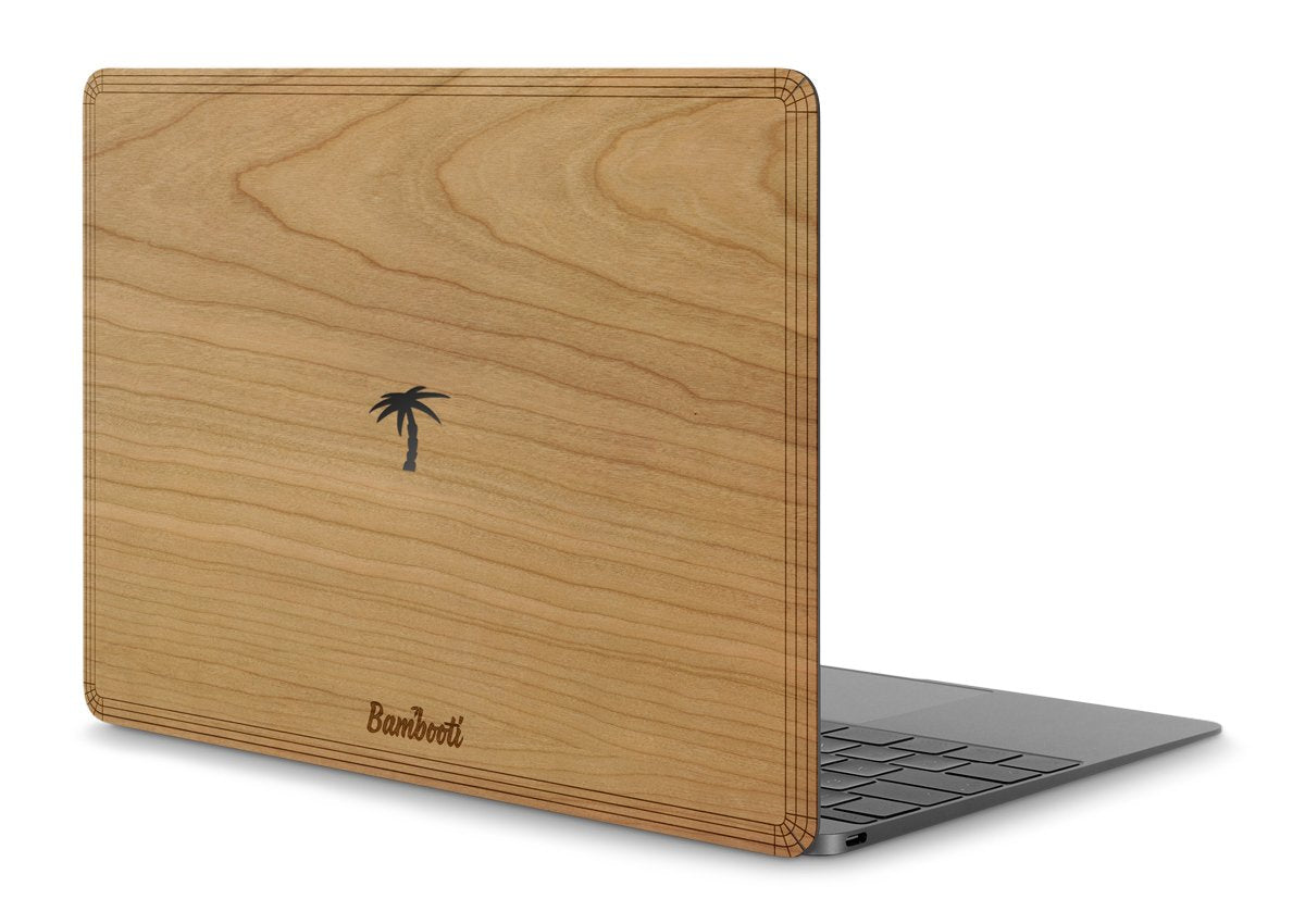 "MacBook 12"" Wood Cover Cherry Palm Tree Cutout"