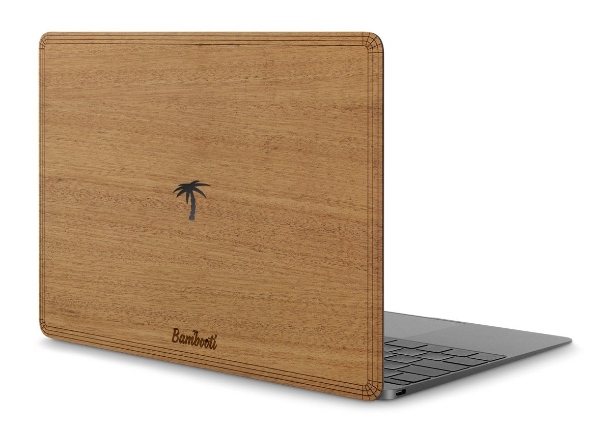 "MacBook Pro 13"" Retina 2016/2017 (+Touchbar) Wood Cover Mahogany Palm Tree Cutout"