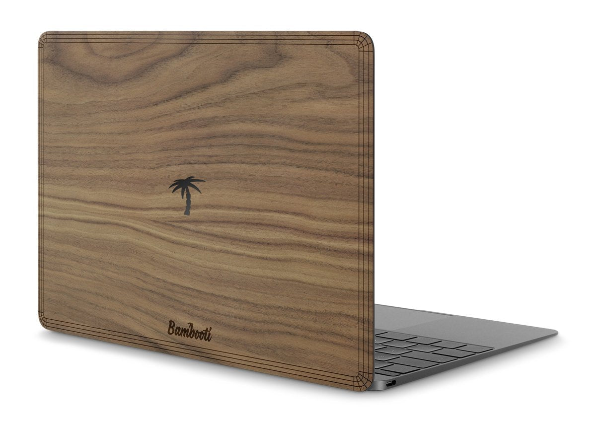 "MacBook Pro 13"" Retina 2016/2017 (+Touchbar) Wood Cover Walnut Palm Tree Cutout"