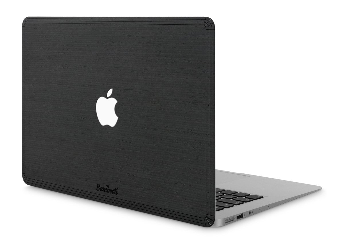 "MacBook Pro 13"" Wood Cover Black Ash Apple Cutout"