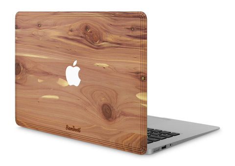"MacBook Air 11"" Wood Cover Cedar Apple Cutout"
