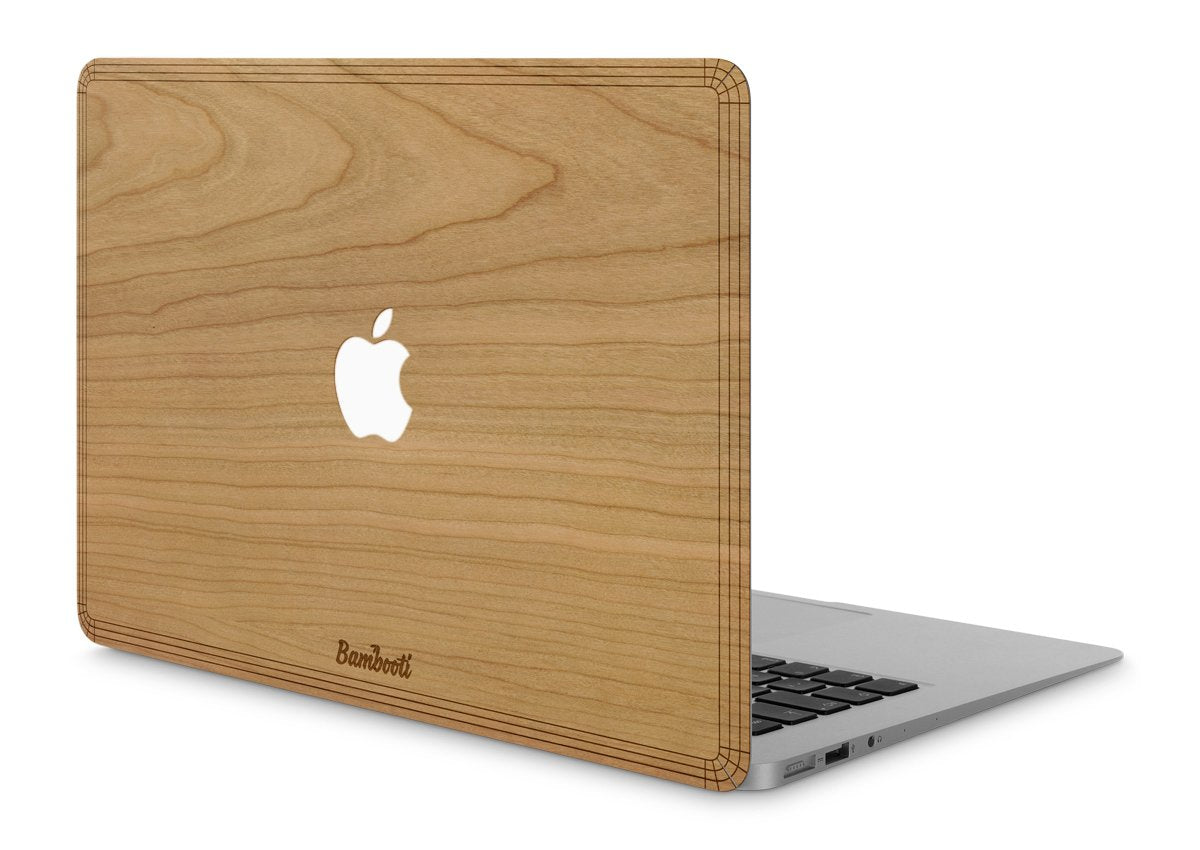 "MacBook Pro 13"" Wood Cover Cherry Apple Cutout"