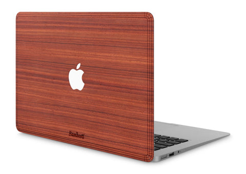 "MacBook Air 11"" Wood Cover Padauk Apple Cutout"