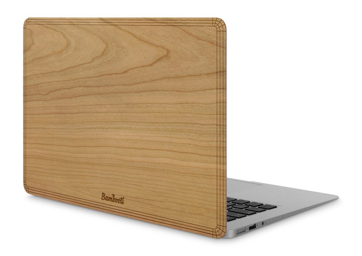"MacBook Pro 13"" Wood Cover Cherry No Cutout"