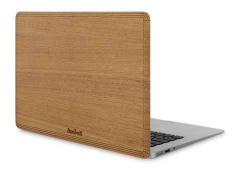 "MacBook Air 11"" Wood Cover Mahogany No Cutout"