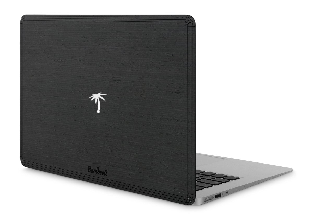 "MacBook Air 13"" Wood Cover Black Ash Palm Tree Cutout"
