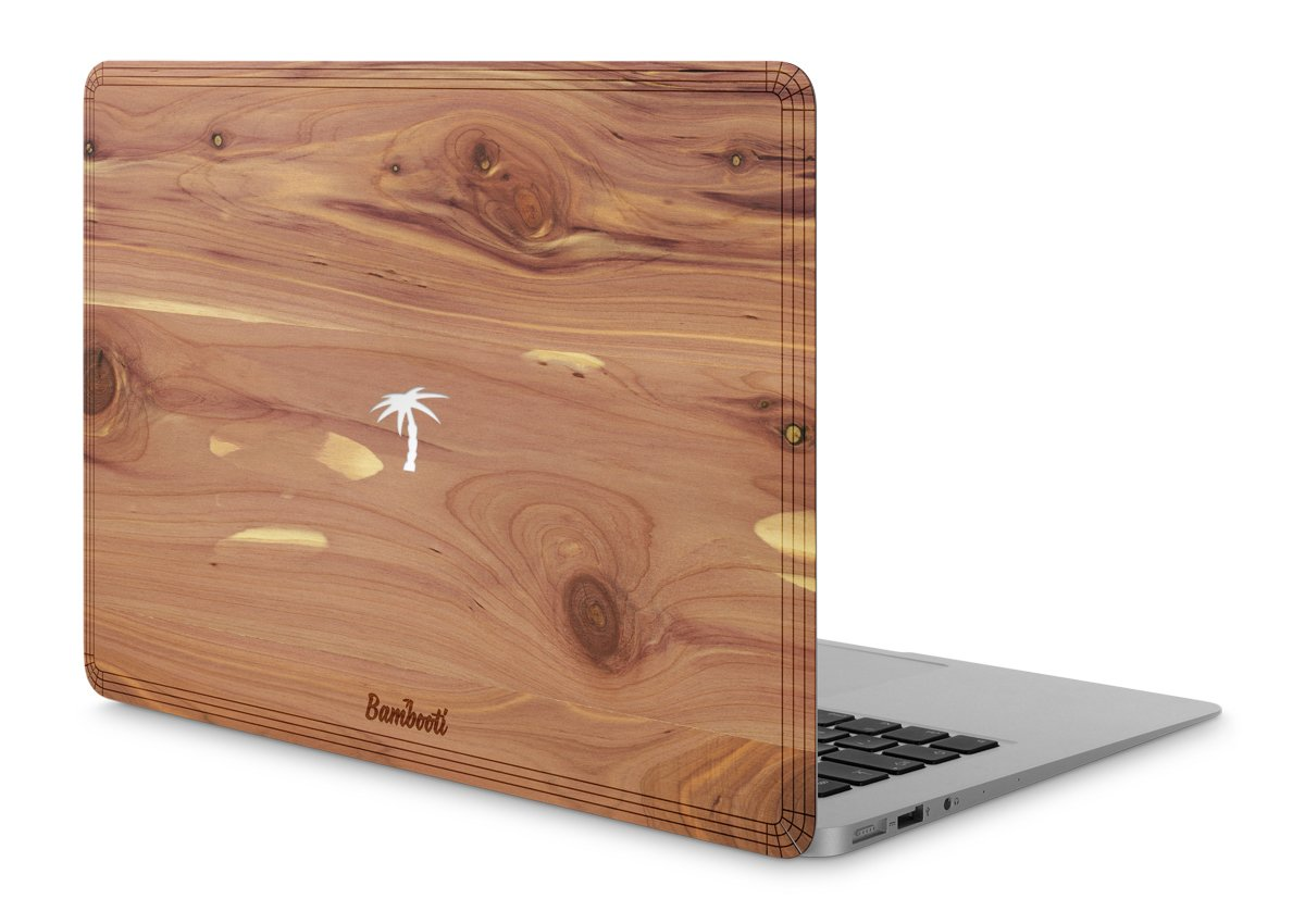"MacBook Air 11"" Wood Cover Cedar Palm Tree Cutout"