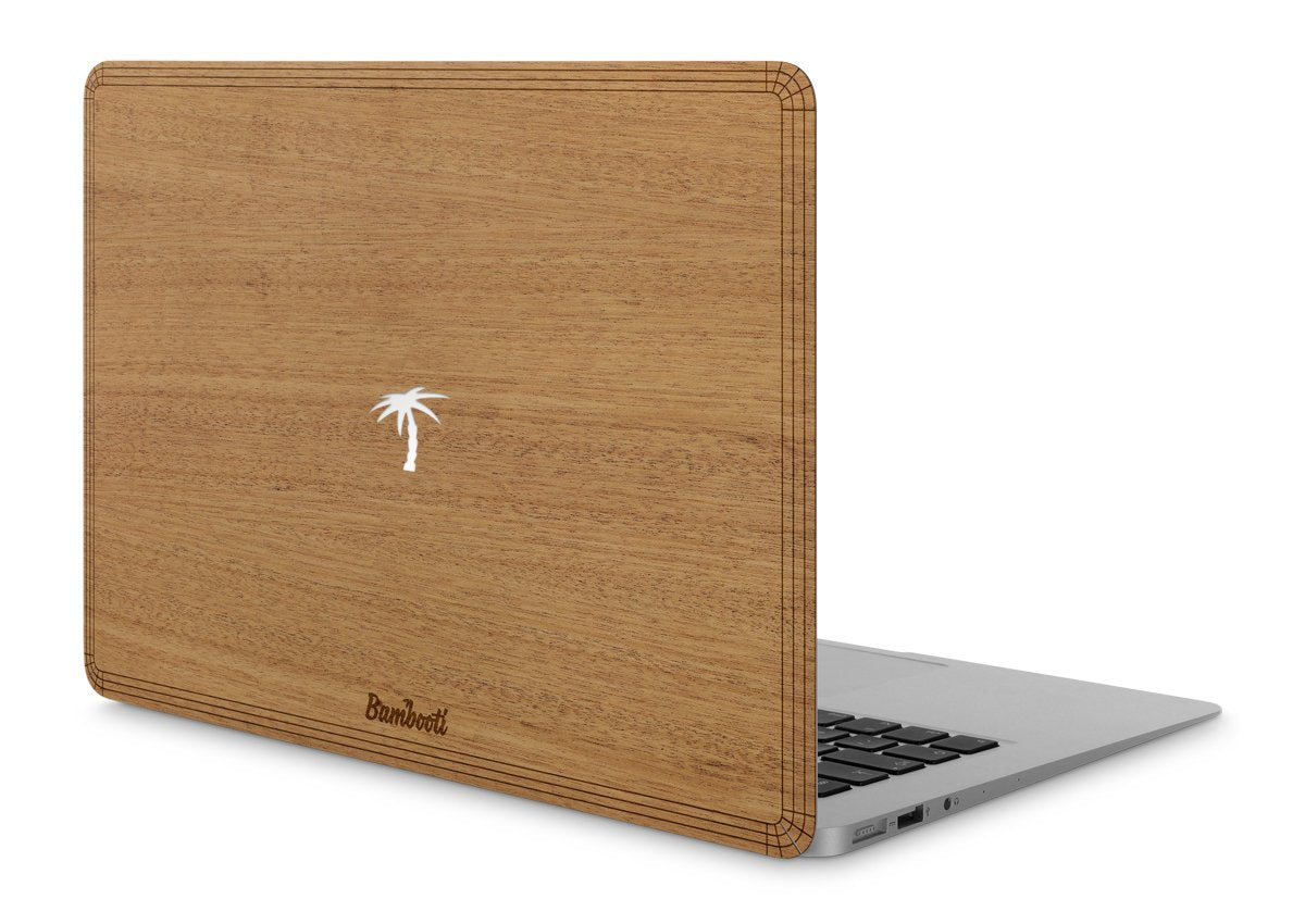 "MacBook Pro 15"" Wood Cover Mahogany Palm Tree Cutout"