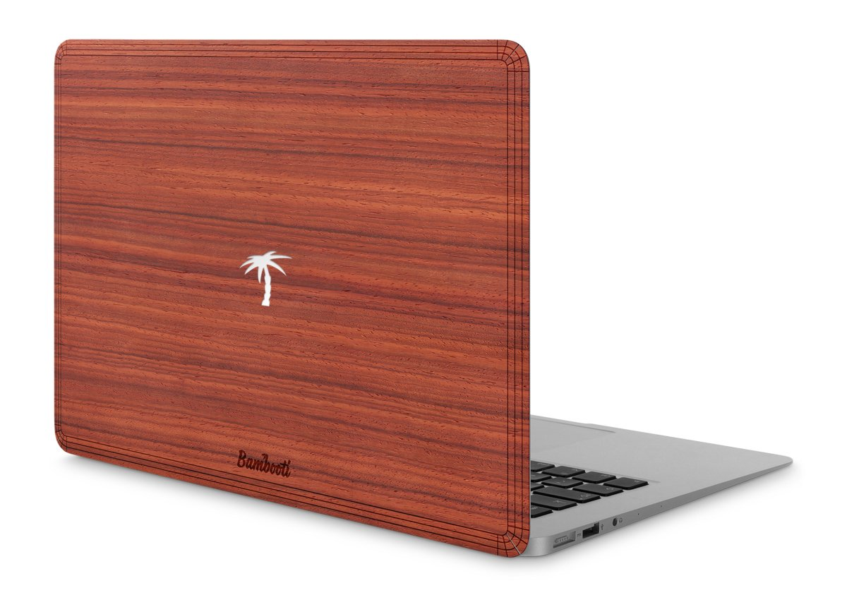 "MacBook Air 13"" Wood Cover Padauk Palm Tree Cutout"