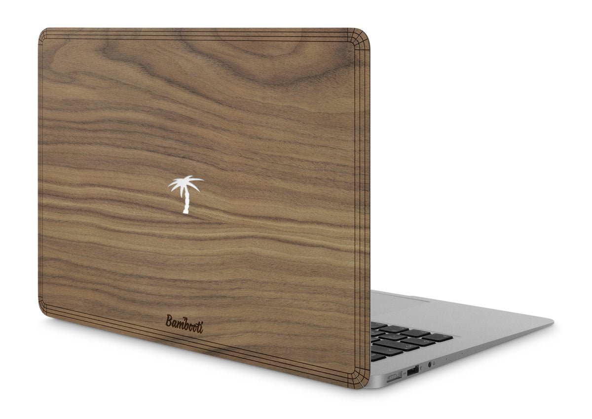 "MacBook Air 13"" Wood Cover Walnut Palm Tree Cutout"