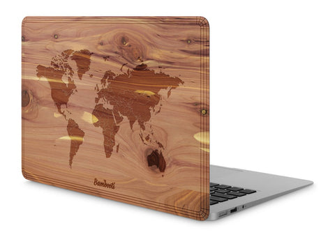 "MacBook Air 11"" Wood Cover Cedar World Map"