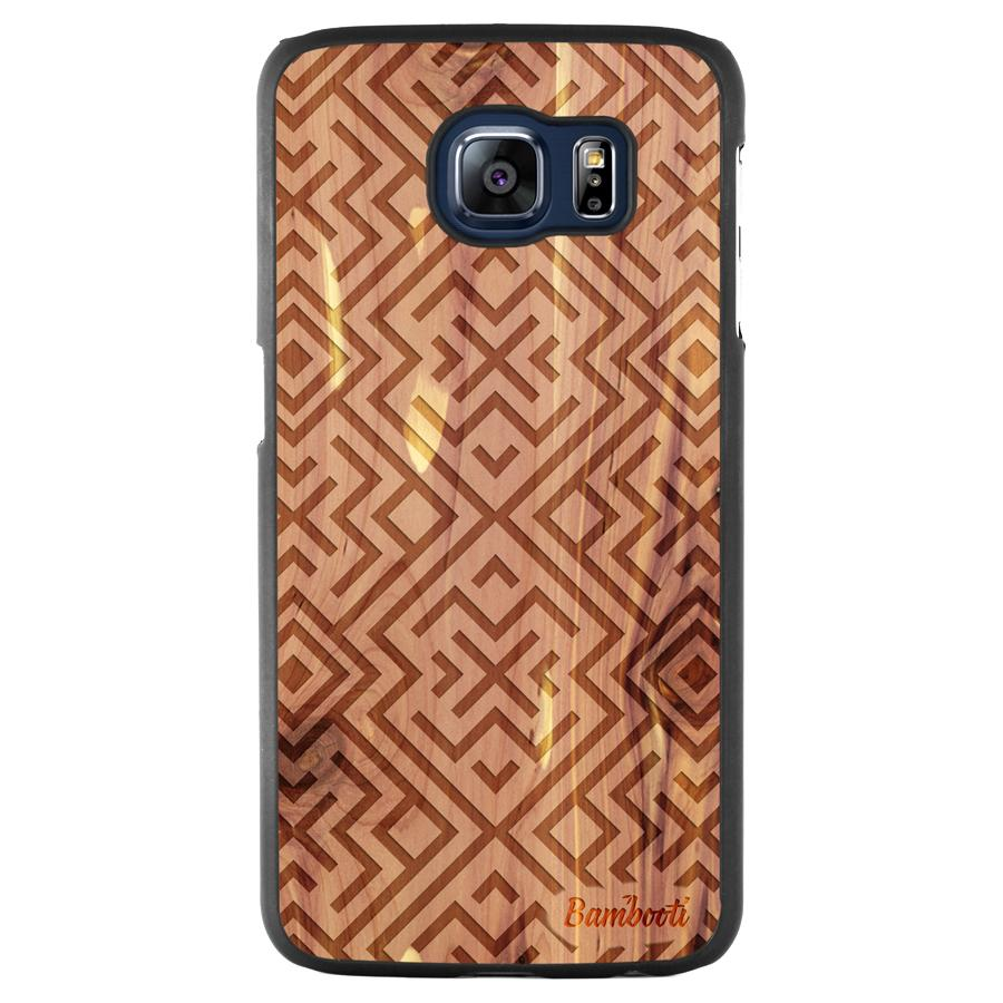 Galaxy S6 Wood Slim Case Cedar Aztec