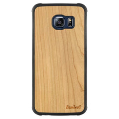 Galaxy S6 Edge Wood Slim Case Cherry Regular