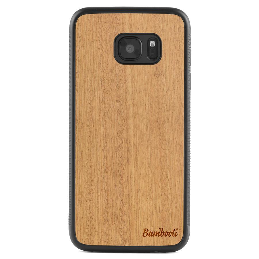 Galaxy S7 Wood Protective Case Mahogany Regular