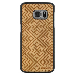 Galaxy S7 Wood Slim Case Cherry Aztec