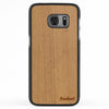Galaxy S7 Wood Slim Case Mahogany Regular