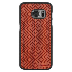 Galaxy S7 Wood Slim Case Padauk Aztec