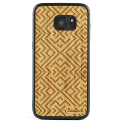 Galaxy S7 Wood Protective Case Bamboo Aztec