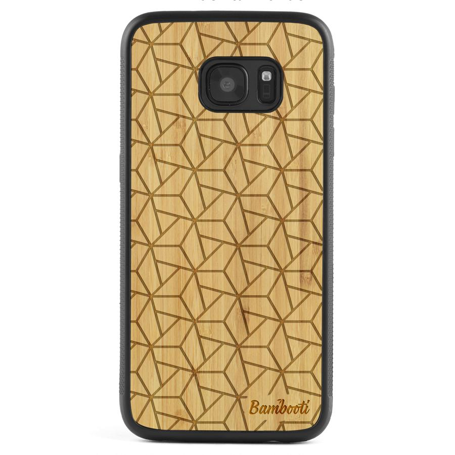Galaxy S7 Wood Protective Case Bamboo Triopus