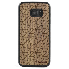 Galaxy S6 Wood Protective Case Walnut Triopus