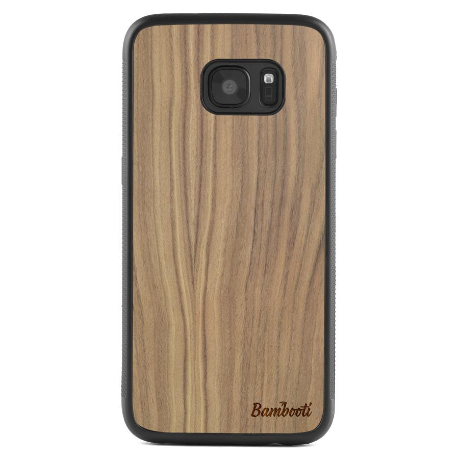 Galaxy S7 EDGE Protective Walnut Case