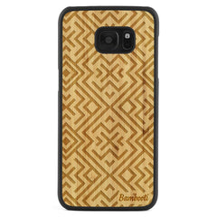 Galaxy S7 Edge Wood Slim Case Bamboo Aztec
