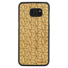 Galaxy S7 Edge Wood Slim Case Bamboo Triopus