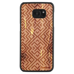 Galaxy S7 Edge Wood Slim Case Cedar Aztec
