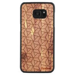 Galaxy S7 Edge Wood Slim Case Cedar Triopus