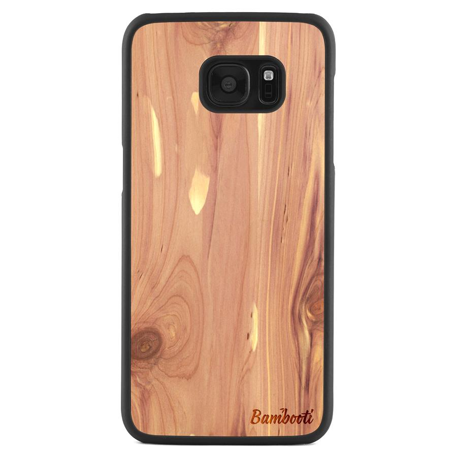 Galaxy S7 Edge Wood Slim Case Cedar Regular