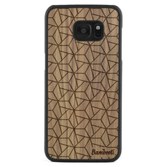 Galaxy S7 Edge Wood Slim Case Walnut Triopus
