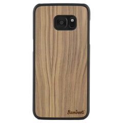Galaxy S7 Edge Wood Slim Case Walnut Regular