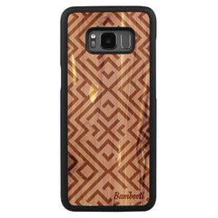 Galaxy S8 Wood Slim Case Cedar Aztec