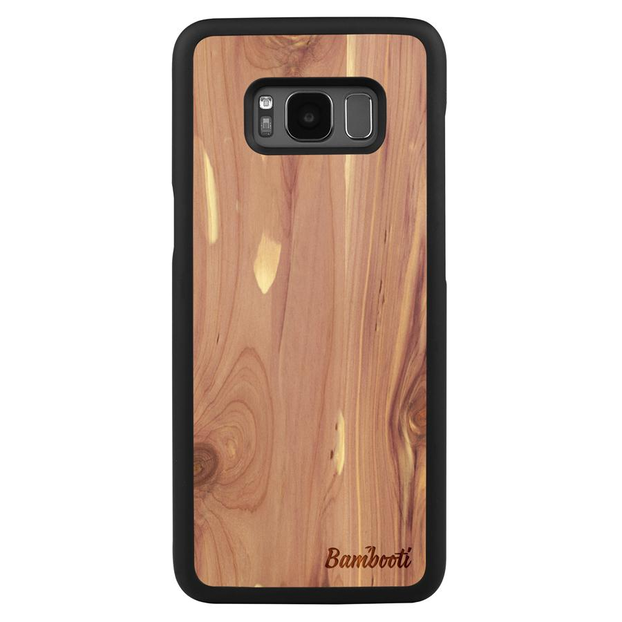 Galaxy S8 Wood Slim Case Cedar Regular