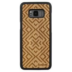Galaxy S8 Wood Slim Case Cherry Aztec