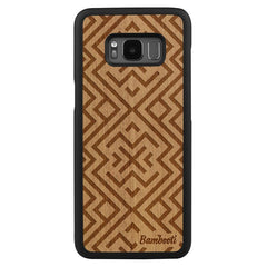 Galaxy S8 Plus Wood Slim Case Mahogany Aztec