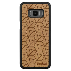 Galaxy S8 Plus Wood Slim Case Mahogany Triopus