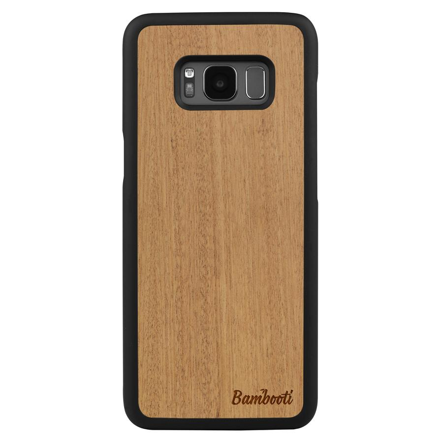 Galaxy S8 Plus Wood Slim Case Mahogany Regular