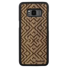 Galaxy S8 Wood Slim Case Walnut Aztec