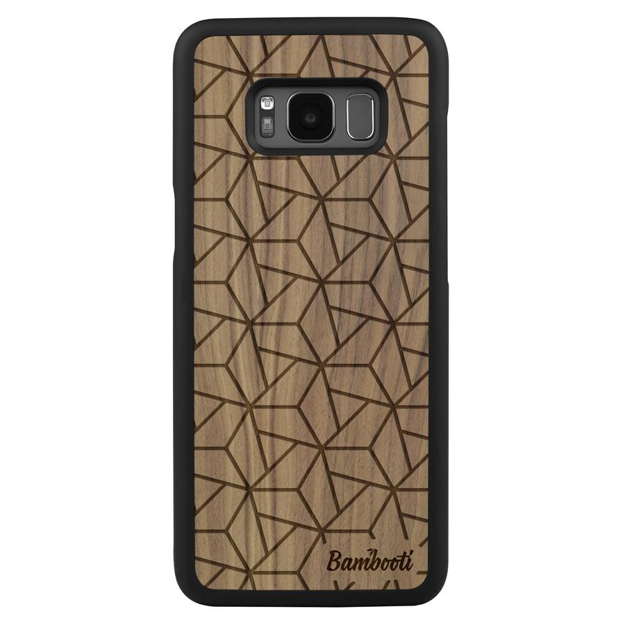 Galaxy S8 Wood Slim Case Walnut Triopus