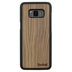 Galaxy S8 Wood Slim Case Walnut Regular