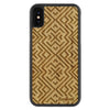 iPhone X Wood Protective Case Bamboo Aztec