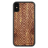 iPhone X Wood Protective Case Cedar Aztec