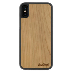 iPhone X Wood Protective Case Cherry Regular