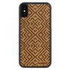 iPhone X Wood Protective Case Mahogany Aztec