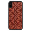 iPhone X Wood Protective Case Padauk Aztec